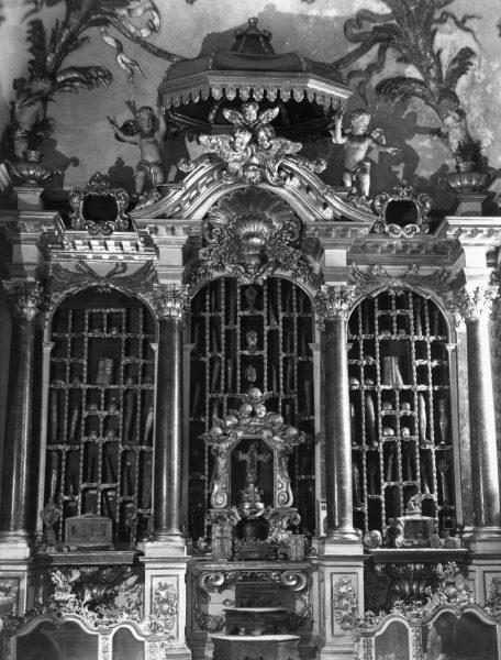 Središnji dio kapelice Moćnika katedrale u Dubrovniku. Snimio Josip Berner (1931.)