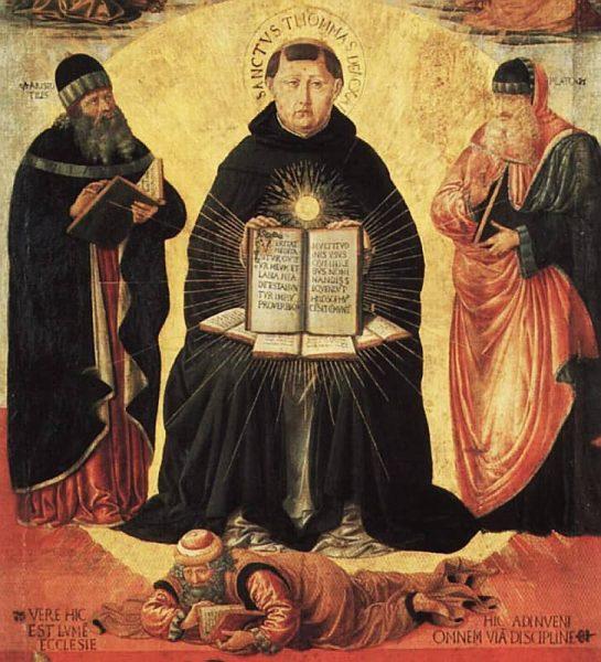 Benozzo Gozzoli, Sv. Toma Akvinski, između 1468. i 1484., ulje na drvu, čuva se u Louvreu.